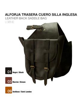 ALFORJA TRASERA CUERO SILLA...