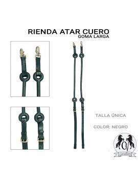 RIENDAS ATAR CUERO GOMA LARGA